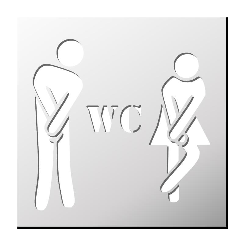 Genial Pochoir WC Homme Femme