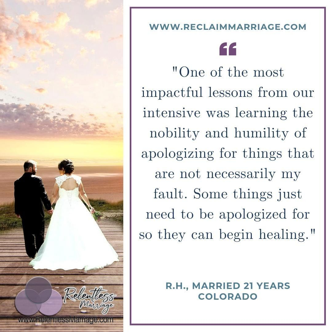Relentless Marriage posted to Instagram: Check out what our clients are saying about their intensive experience! www.ReclaimMarria… www.relentlessma…