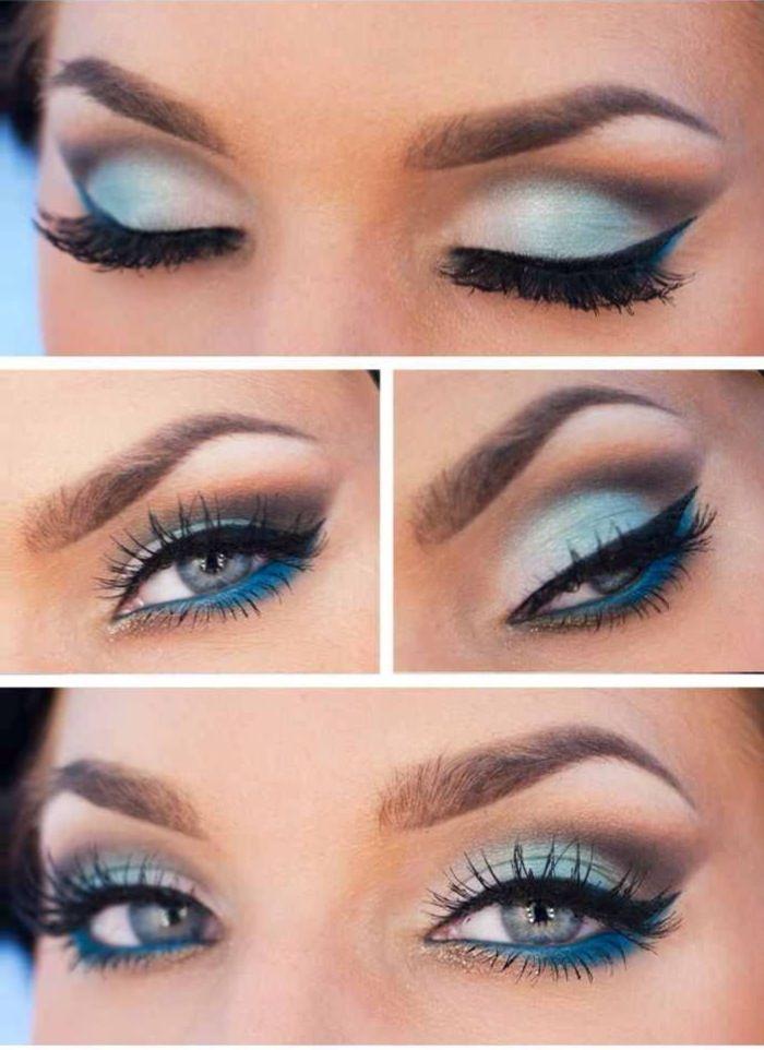 Frozen Queen Elsa Makeup Looks, Disney Princess Beauty How To   Blue ...