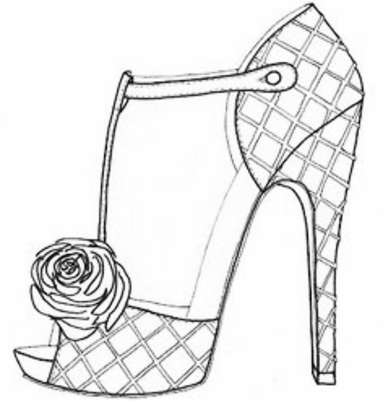 Pin By Soulbearingquotes On Color My World Shoe Design Sketches