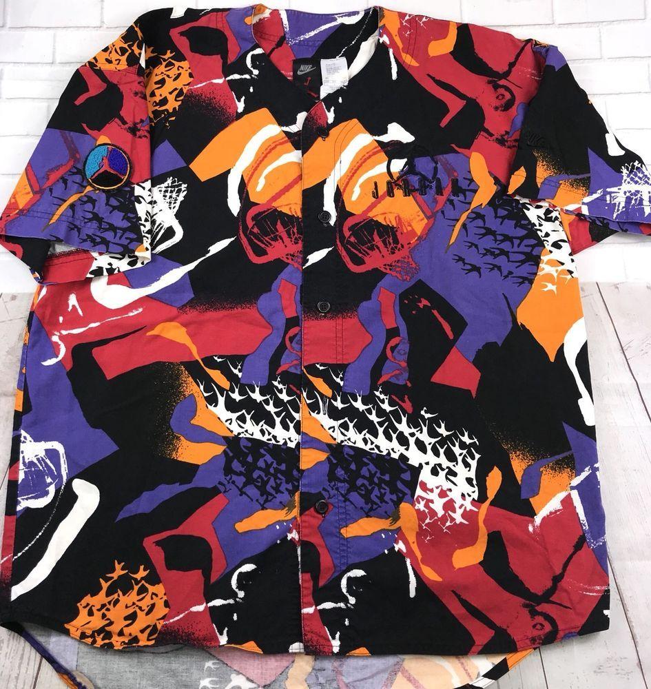 lowest price c74c6 ee9b5 Vintage Mens L Nike Air Michael Jordan Baseball Jersey ...