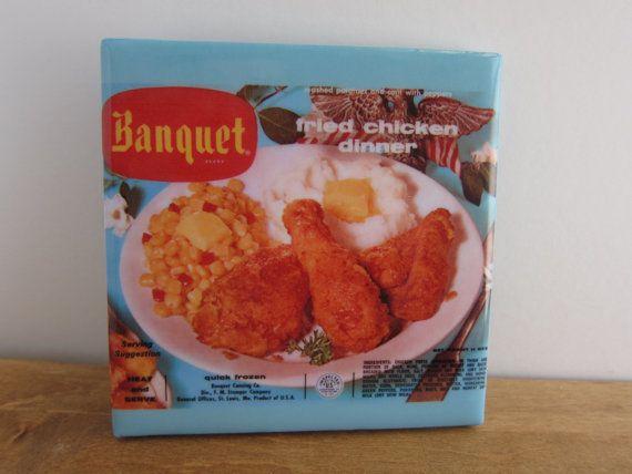 Fried Chicken TV Dinner Tile Coaster