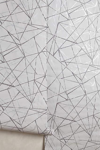 Metallic Angles Silver Wallpaper