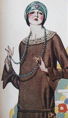 1920s Flapper Fashion Catalog Dresses Hats Lingerie Shoes Color Frocks 333pg | eBay