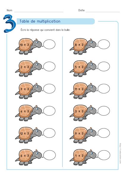 Magnifique contenu sur cours jeu table de multiplication for Apprendre la table de 7
