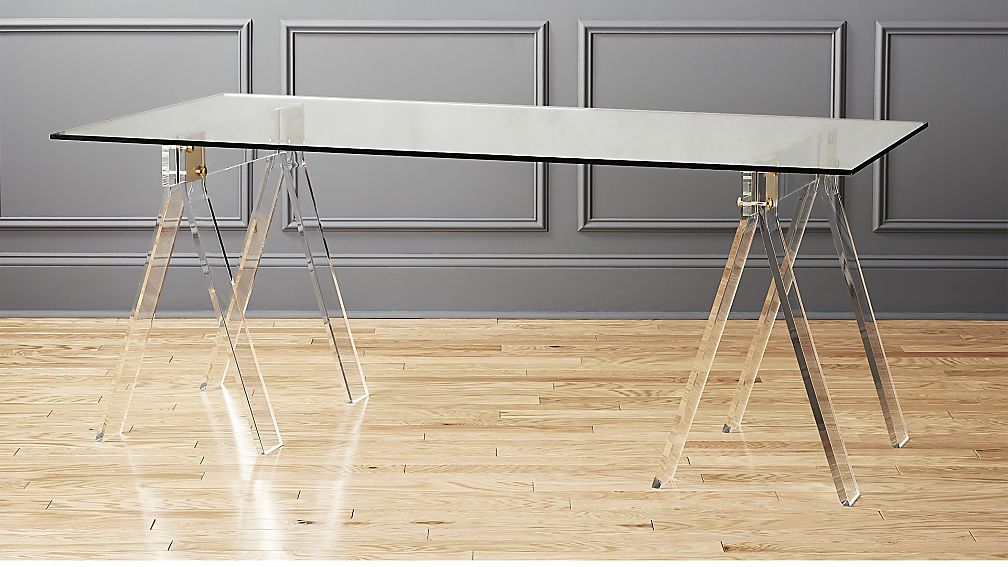 Shop Foundry 72 Acrylic Desk Classic Shape Unexpected Materials