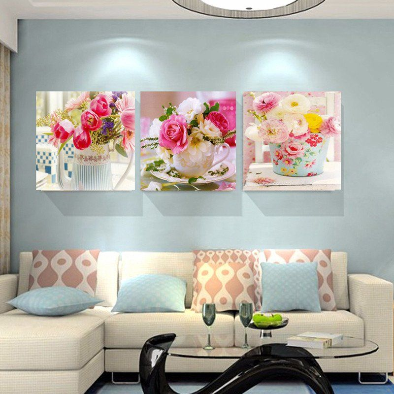 Beauty Flowers Canvas Prints Home Decor Wall Pictures Flower
