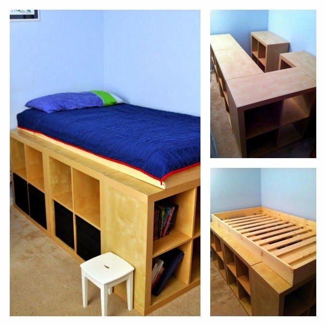 MI RINCÓN DE SUEÑOS: Hacer camas con espacio para almacenar | Ideas ...