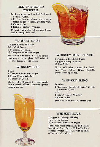 Retro Happy Hour! • Recipes from Kinsey Whiskey and Gin ...