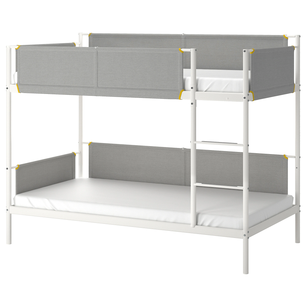 Vitval Bunk Bed Frame White Light Gray Twin Ikea Bunk Beds