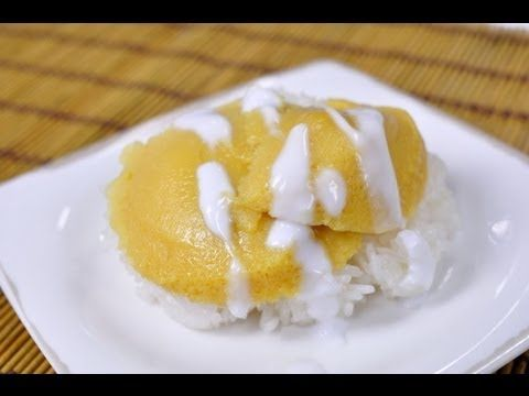 Thai food sweet sticky rice with egg custard khao nieaw sang ka ya thai food sweet sticky rice with egg custard khao nieaw sang ka ya youtube recipes to try pinterest custard rice and egg forumfinder