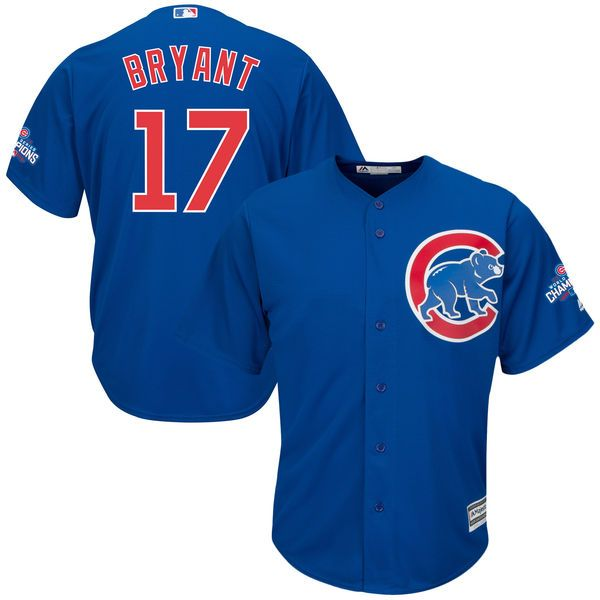 2016 MLB Womens Chicago Cubs 17 Kris Bryant Blue Jersey