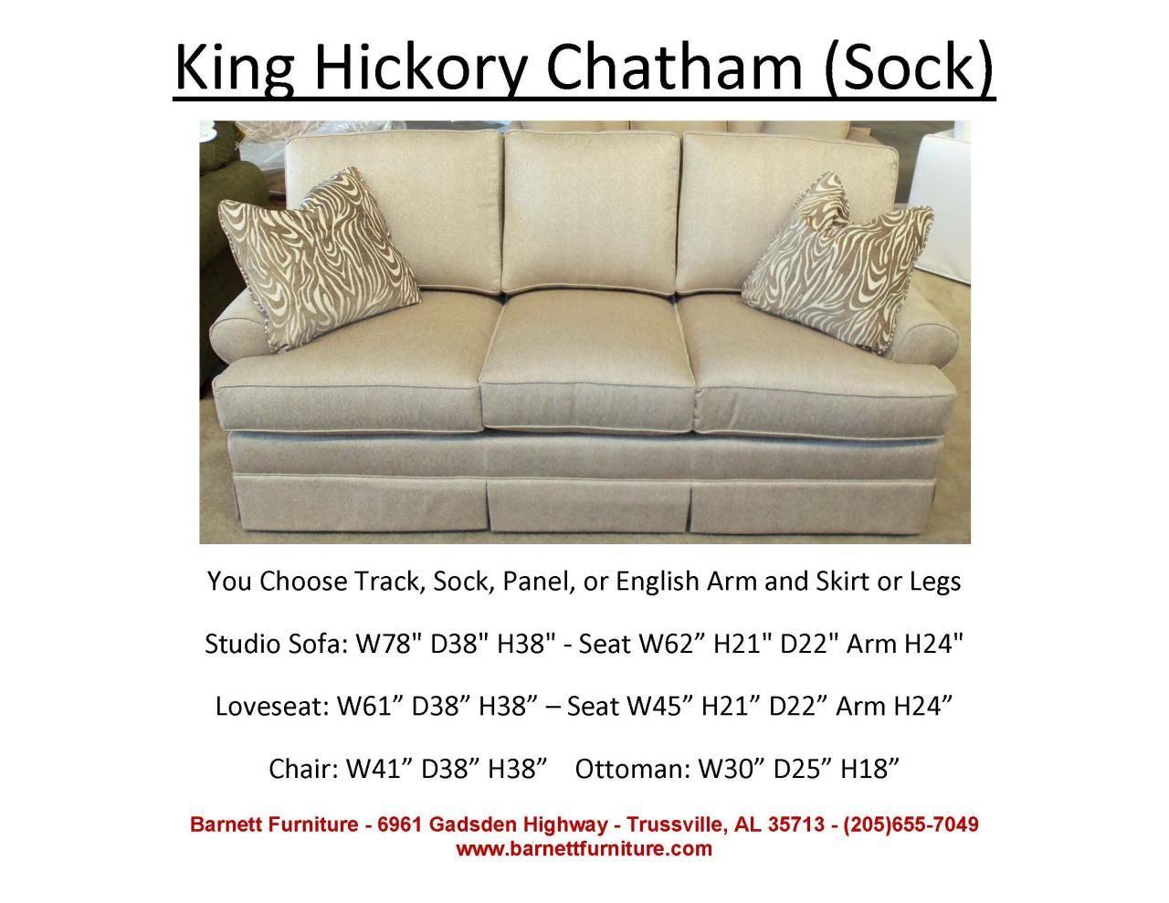 Outstanding King Hickory Chatham Sofa Sock Arm Skirt Apartment Size Inzonedesignstudio Interior Chair Design Inzonedesignstudiocom