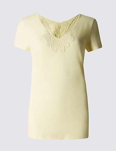 Pure Cotton Crochet Top | M&S