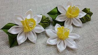Diy Kwiaty Kanzashi W Doniczce Na Szybko 304 Youtube Flower Crafts Fabric Flower Tutorial Diy Kanzashi