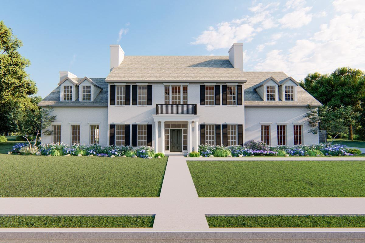 Plan 860054mcd 4 Bed Modern Farmhouse Plan With Shed Dormer Colonial House Plans Colonial House Modern Farmhouse Plans