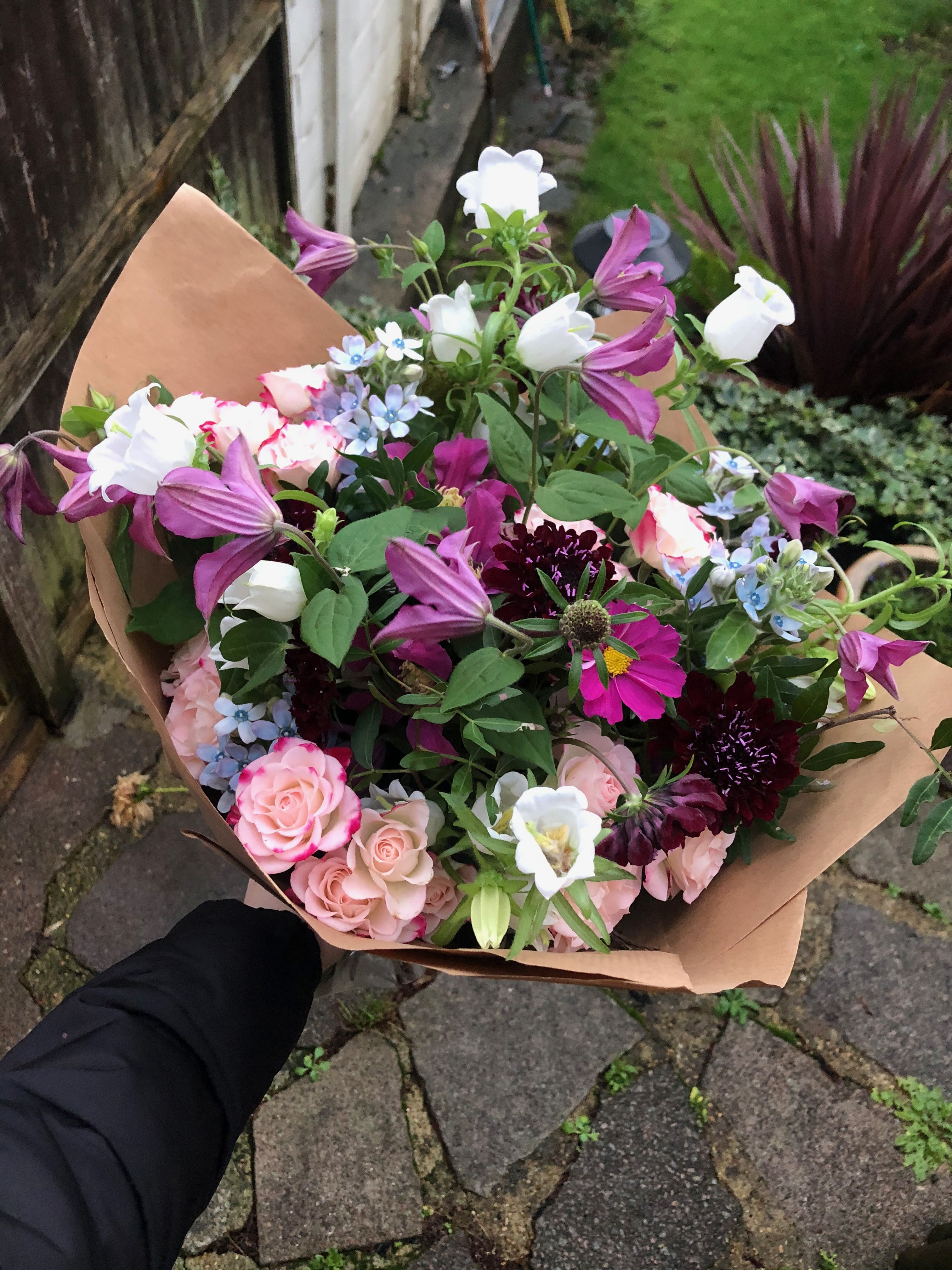 Bright Blooms In 2020 Flower Subscription Event Flowers Hand Tied Bouquet