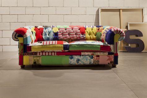 Divano Patchwork ~ Divano letto chester crazy: vendita divani letto divani