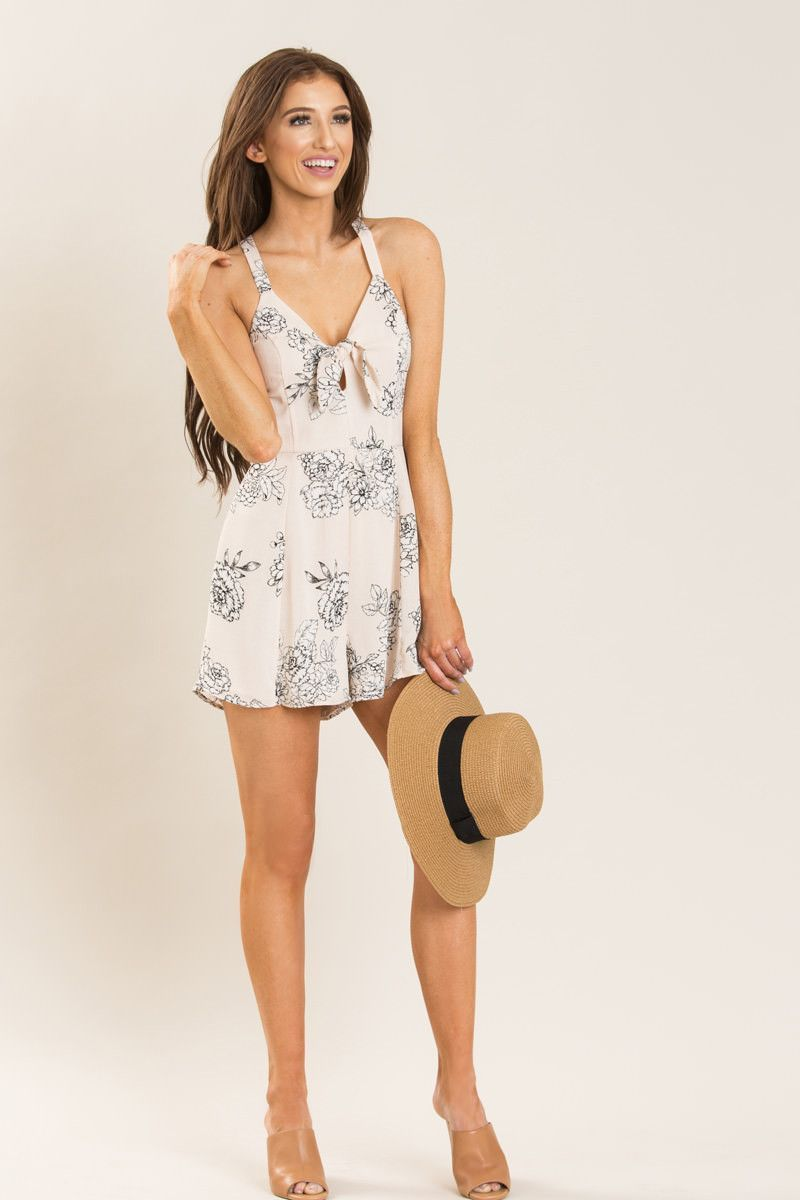 2f1de144f2b1 Rory Light Pink Floral Romper by LUSH
