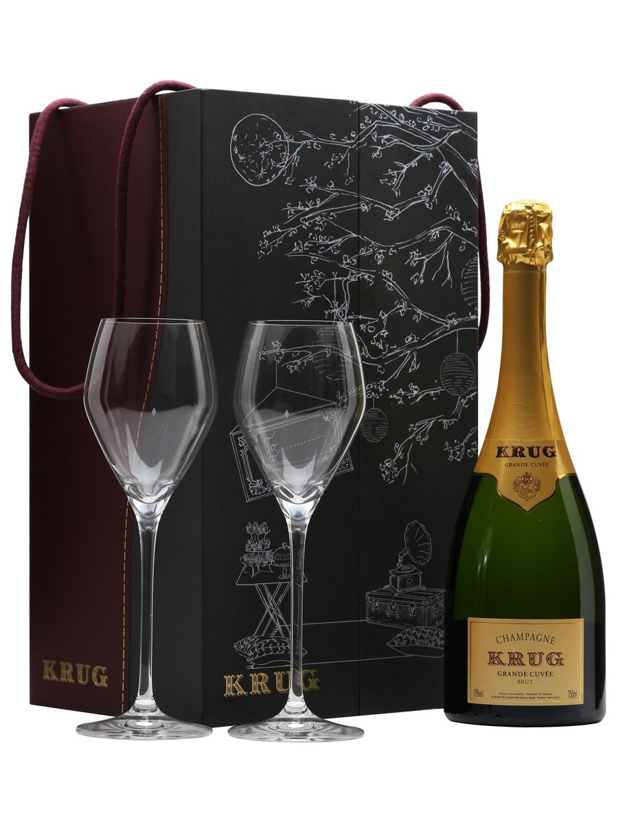Krug's custom Champagne flutes are more like a white wine glass.