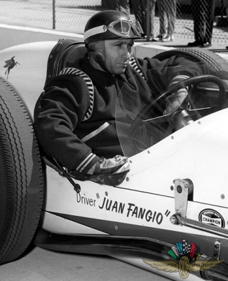 Juan Fangio passed his physical and found enough speed to qualify at Indy in 1958, but he didn't care for the oval track and may have had a conflict with a sponsorship.
