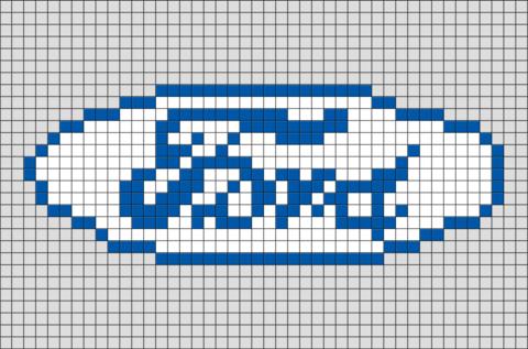 Ford Pixel Art Pixel Art Pixel Drawing Art Logo