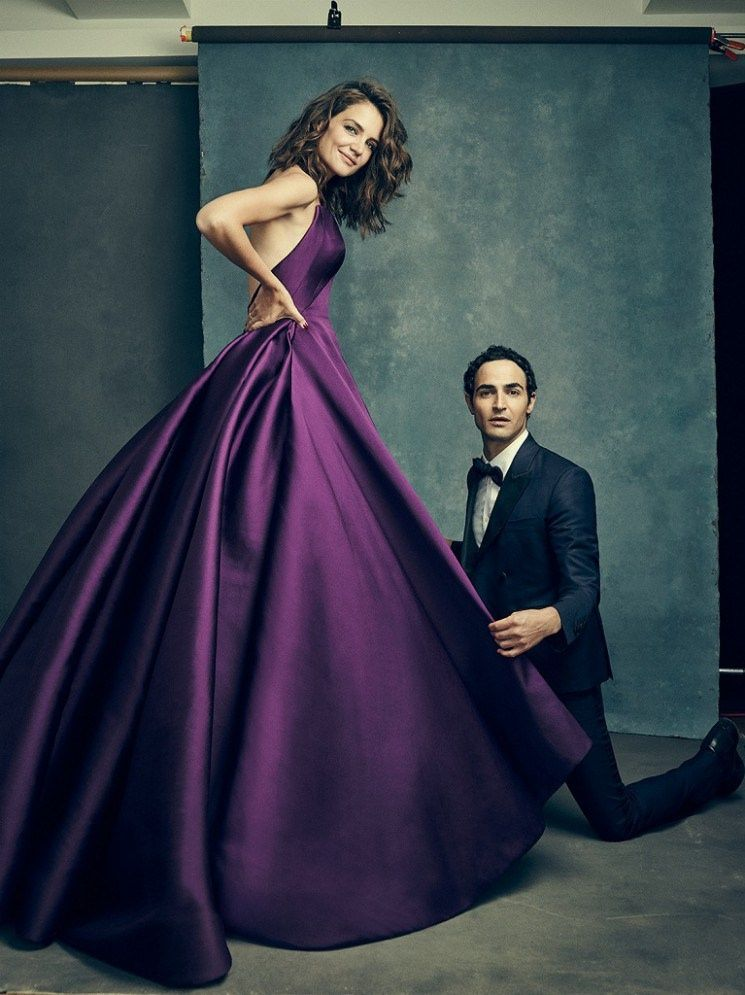 Katie Holmes Wears Zac Posen in The Hollywood Reporter | Vestiditos ...