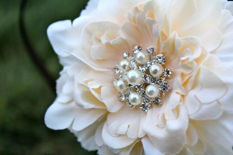 Wedding Hair Accessory Wedding Hair Flower Small Peony Flower