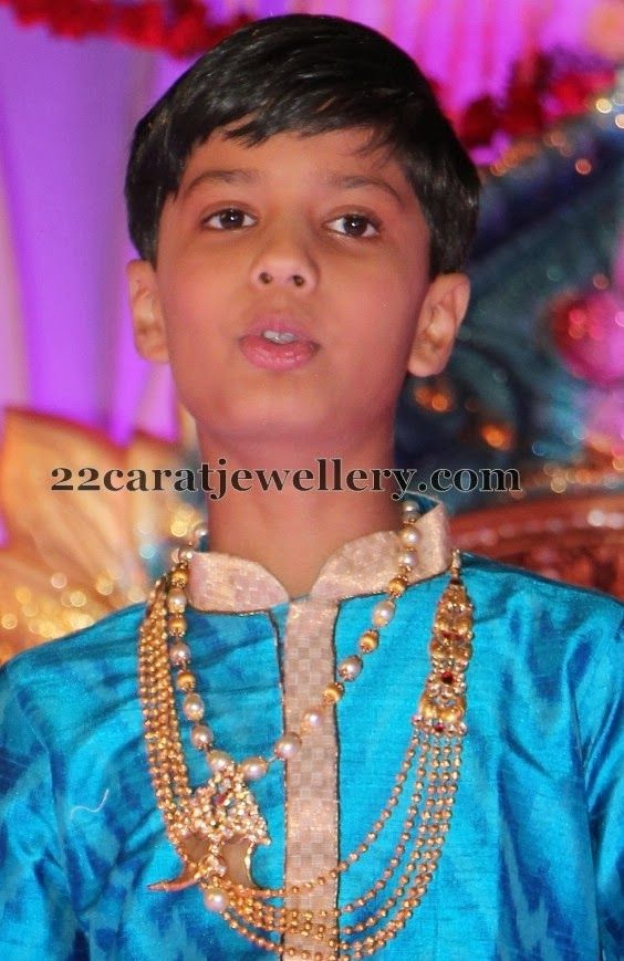 Boy in South Pearl Set with Puligoru | Pearls, Indian jewelry and ...