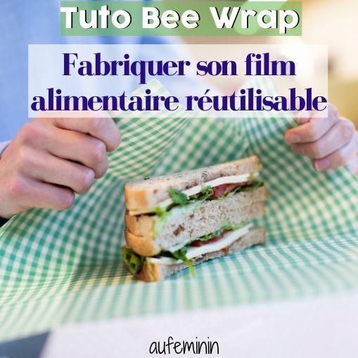 Découvrez en vidéo comment fabriquer votre film alimentaire réutilisable à base de cire d'abeille. Et plus d'astuces écolo dans votre cuisine sur #aufeminin. #beewrap #astuces #tutobeewrap #DIY #filmalimentaire #emballage #gesteecolo