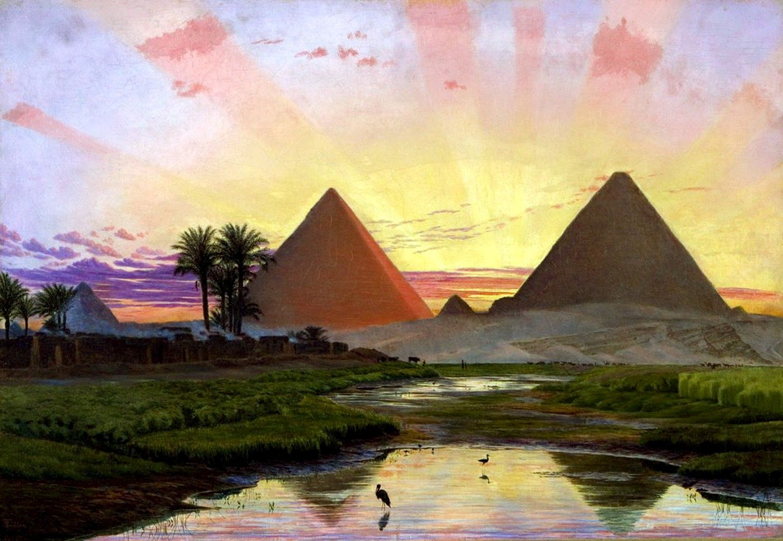 Art French School Egypt Scene Egyptians Orientalist Watercolour Landscape Cairo Art Special Buy
