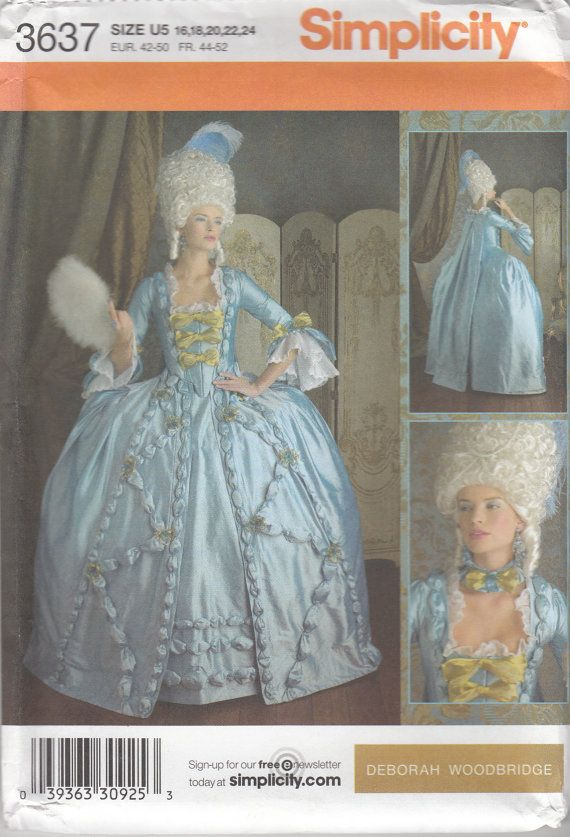 Simplicity 3637 18th Century Colonial Ball Gown by SarahBethsCottage