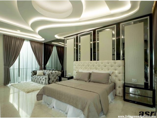 Half False Ceiling Designs For Bedroom With LED Lighting