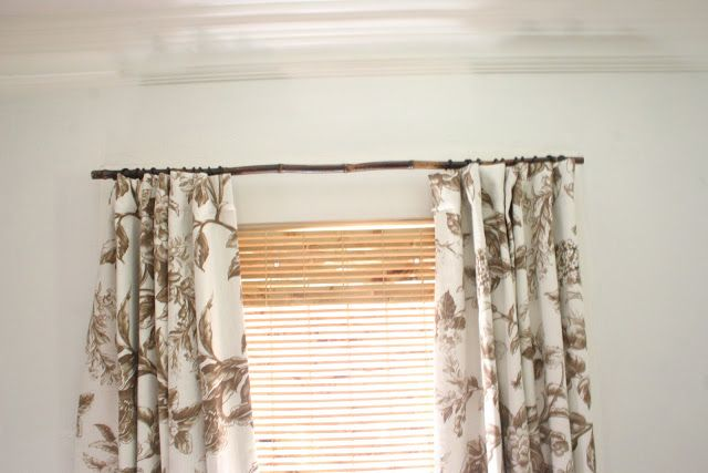 The Gardener S Cottage Bamboo Curtain Rods Diy Curtain Rods