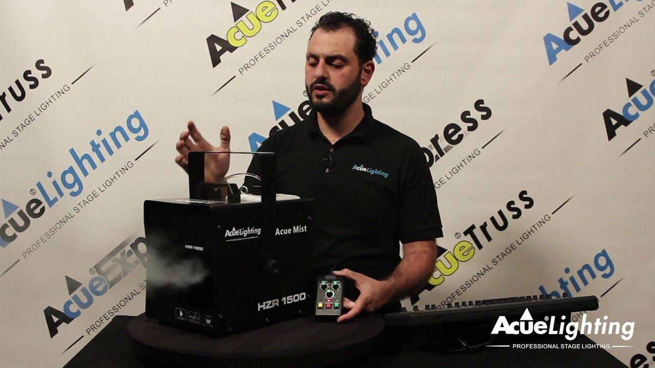 Acue Mist Pro 1500 Haze Machine Product Demo Mists