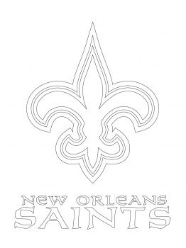 Printable Saints Logo 49ers Logo Coloring Page New orleans saints