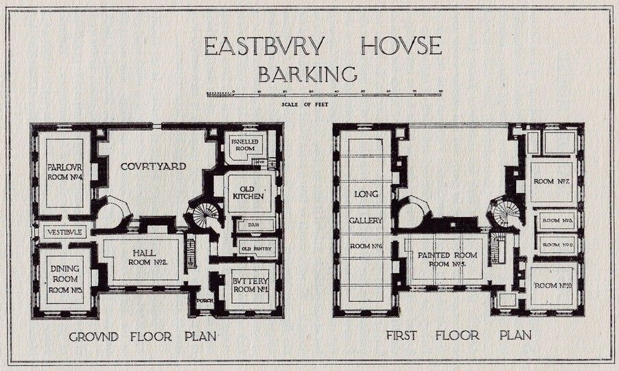 Eastbury Manor House Country House Floor Plan English Manor Houses English Country House Plans