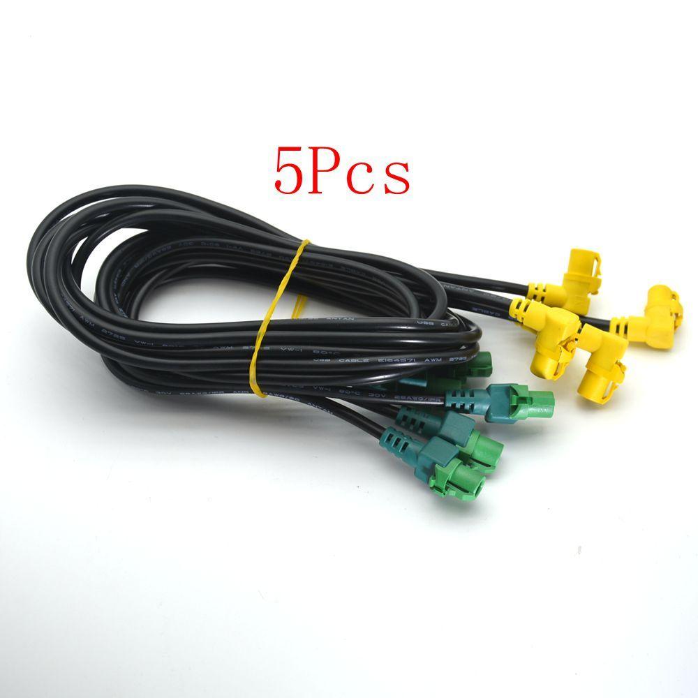 5pcsvw Rns310 Rcd510 Oem Auxusb Wiring Harness For Vw Passat B6 B7 Phaeton Cc Touran 3cd035249a 3cd 035 249a