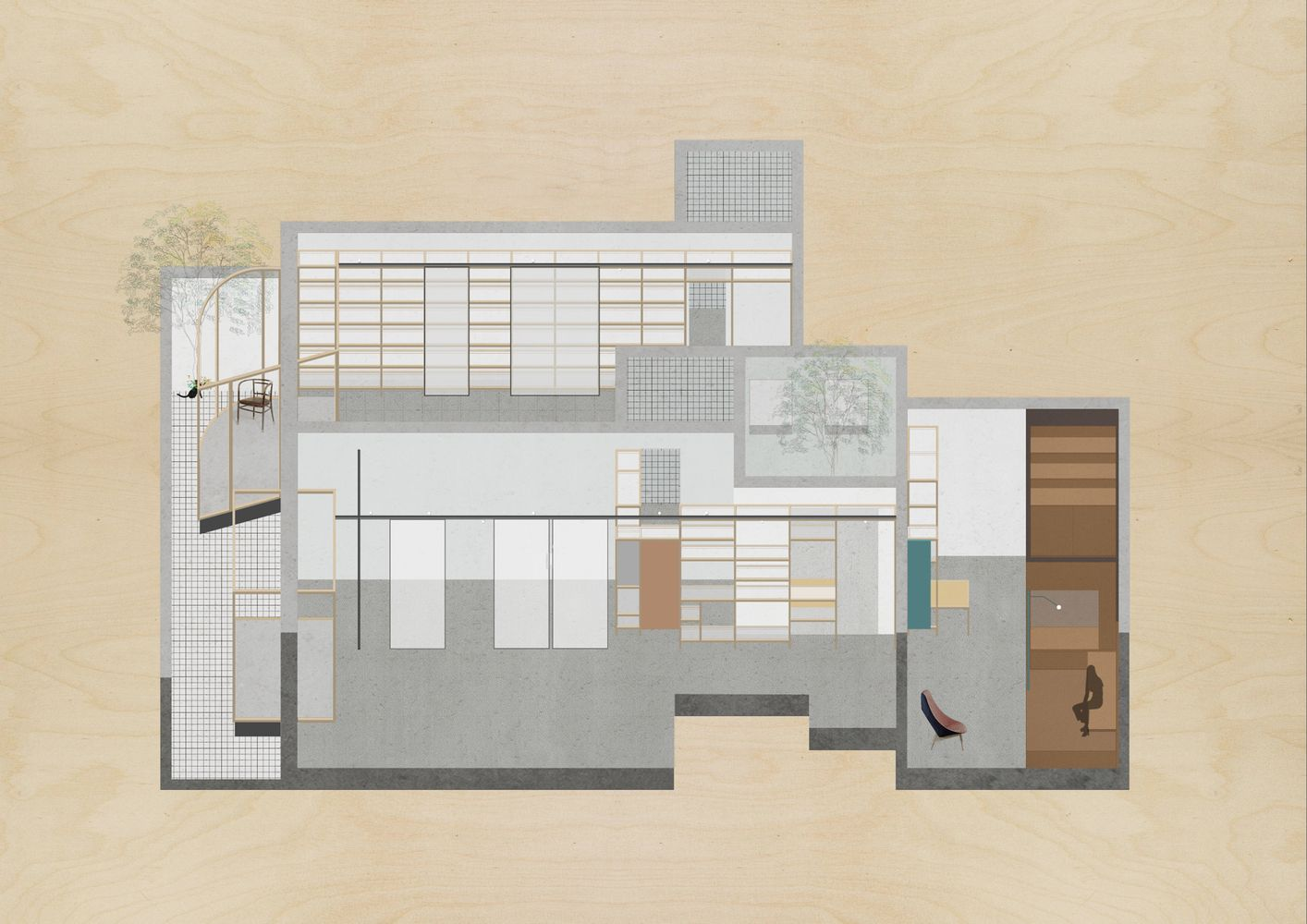 Gallery of architect   studio atelier tao  also best architectural drawings images rh pinterest