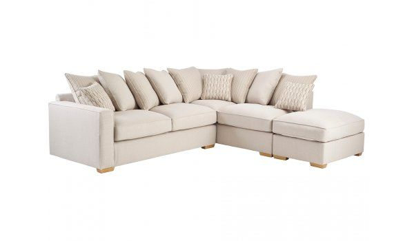 Jasper Corner Sofa Left Facing in Costa Linen