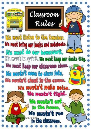 Légend image in kindergarten classroom rules printable