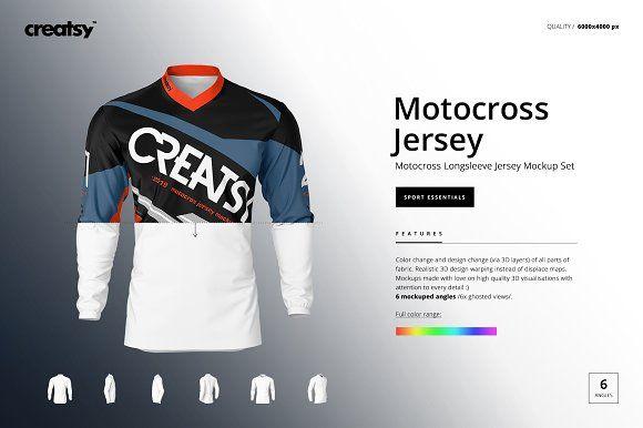Download Motocross Jersey Mockup Set by creatsy5 on @creativemarket ...