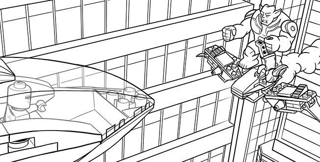 Ausmalbilder Spiderman Lego: LEGO SPIDER-MAN 9 Coloring Sheet.