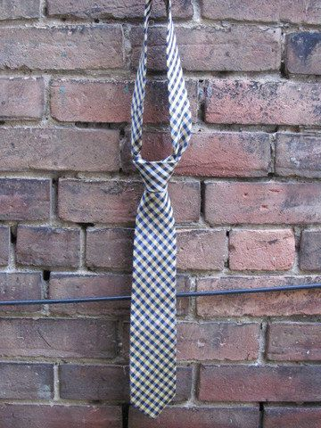 Navy and Gold Plaid Tie by HighboyMenswear on Etsy