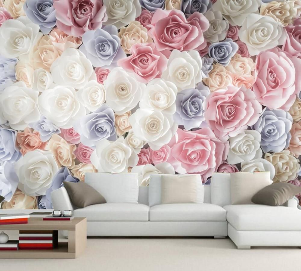 Many Texture rose flower wallpaper d wall muralliving room TV sofa