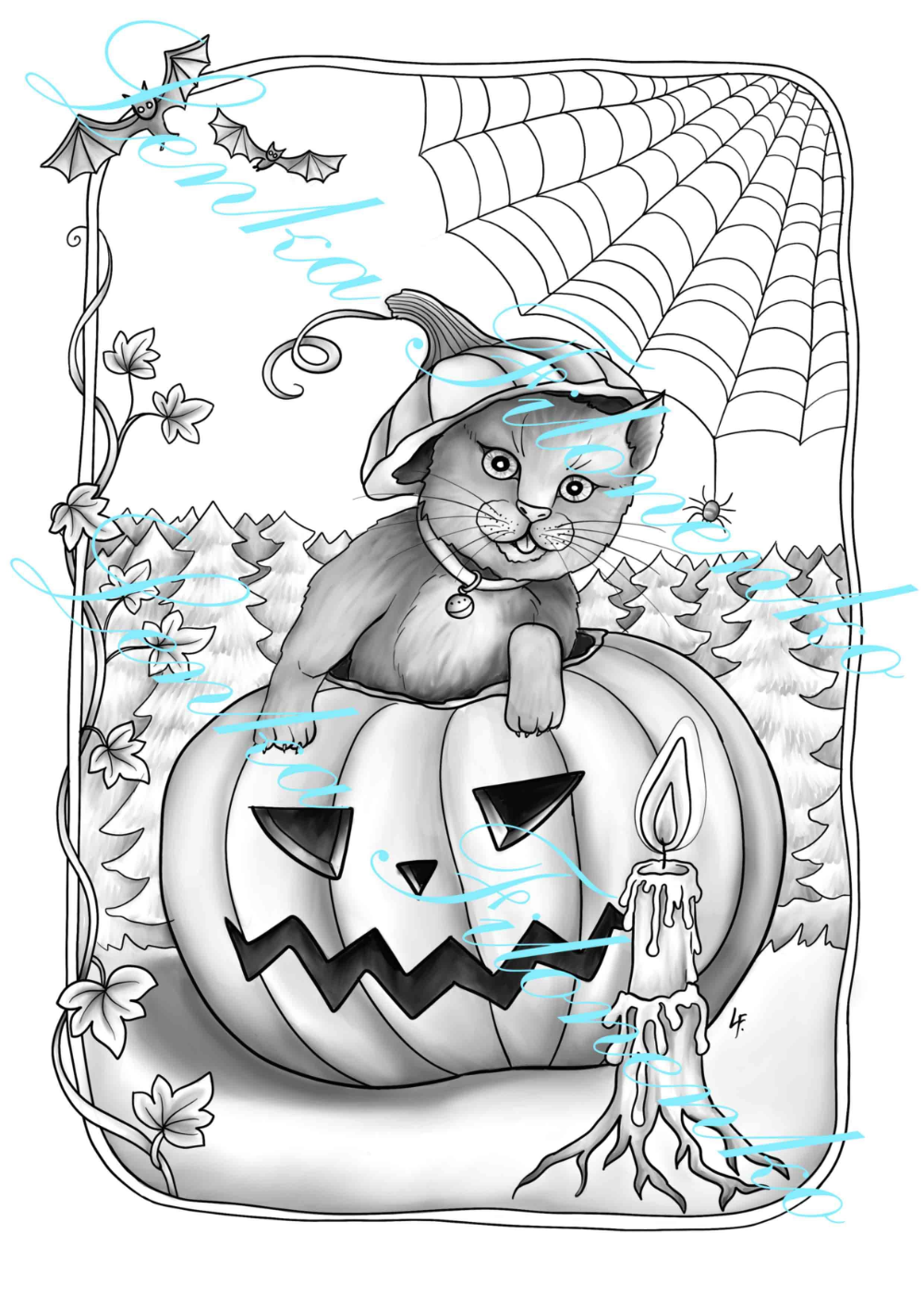 halloween 2019 clipart grayscale coloring pages Google