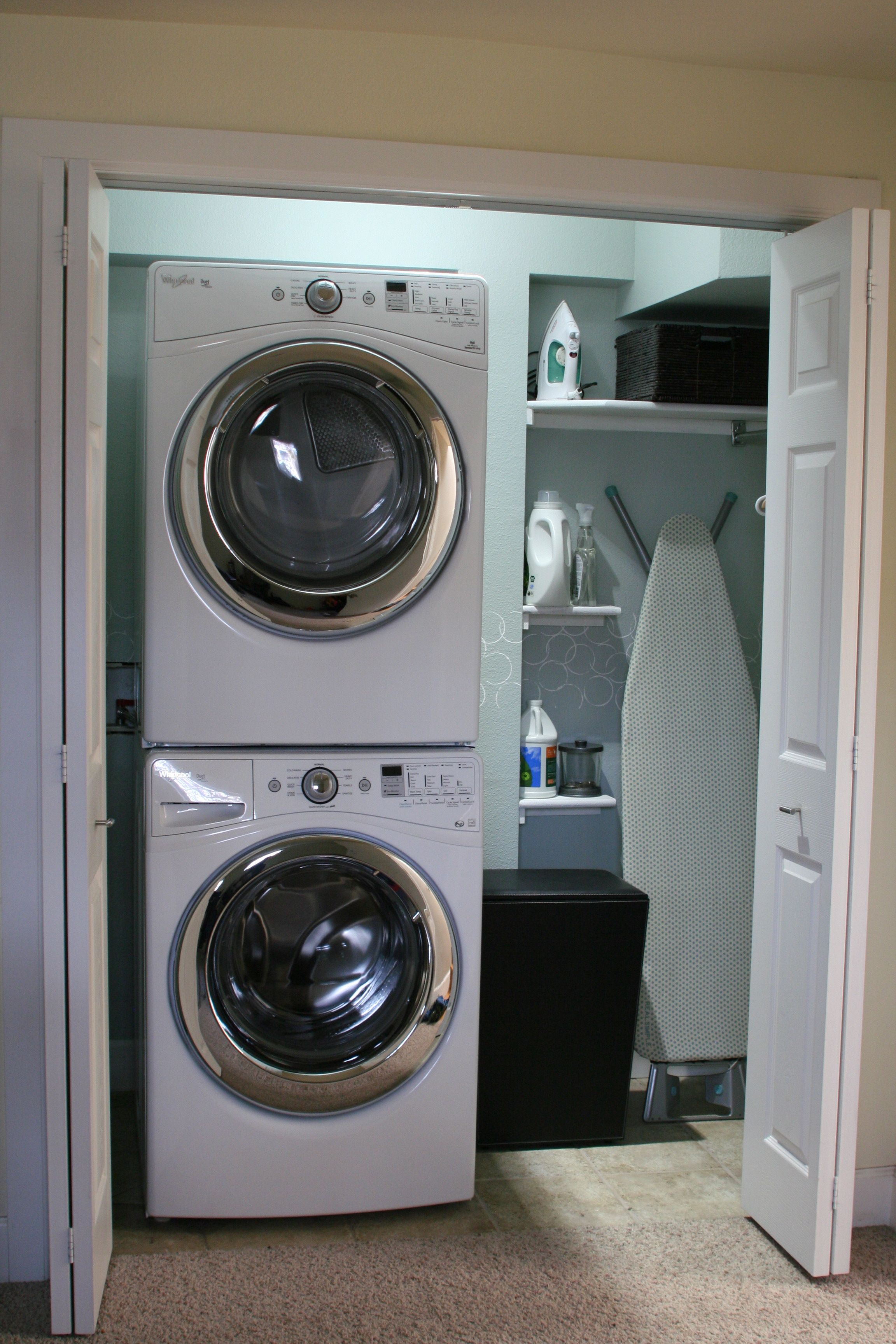 Laundry Room Small Laundry Room Makeover Design With Top Loading Washer And Wooden Door Ideas Inspiring Small Laundry Room Ideas to Saving Small Spaces
