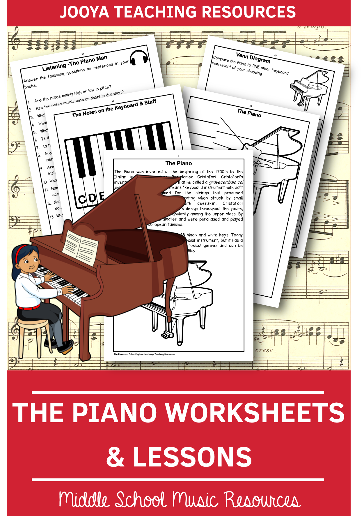 The Piano Worksheets And Lessons