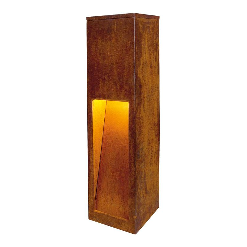 The Rusty Slot 50 Post is an outdoor light designed for modern living.