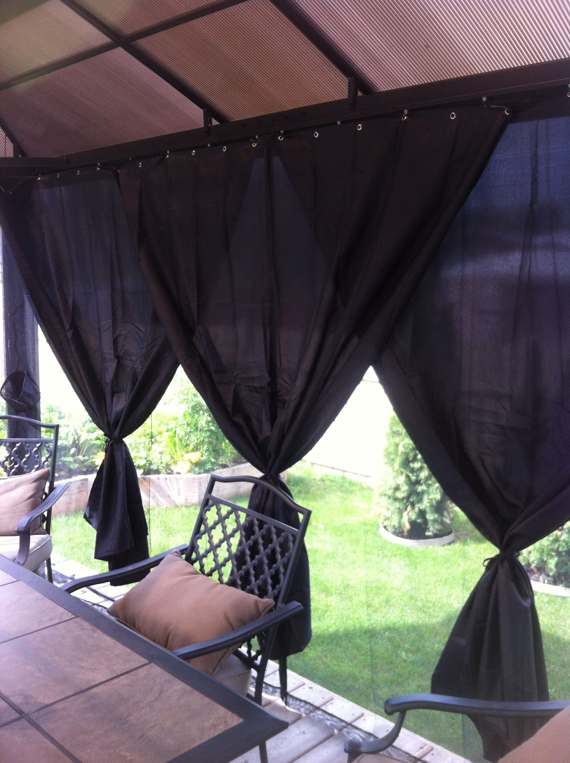 Privacy Screen For My Gazebo Keeps Out The Heat From The Setting
